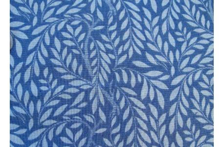 Stoff Blätter blau English Garden