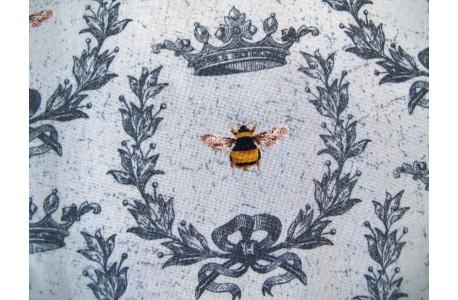 Stoff Bienen grau Le Bouquet