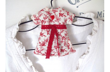 Lavendelkissen Kleidchen BW Leinen