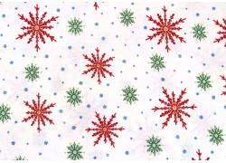 Weihnachten Stoff Schneeflocken Eiskristalle