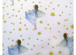 Stoff Elfen blau gelb Sterntaler