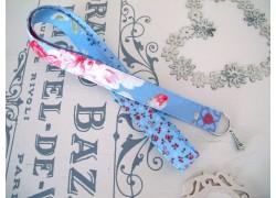Schlüsselband blau rosa