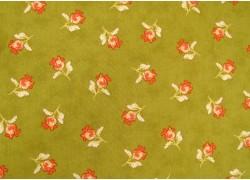 Fat Quarter Blumen Moda apricot grün