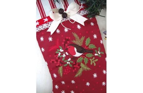 Nikolausstiefel Weihnachtsstiefel rot tolle Deko