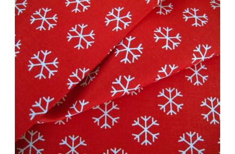 Patchworkstoff Eiskristalle Woodland Friends Christmas