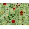 Patchworkstoff Weihnachten grün Christmas Elves