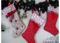 Nikolausstiefel Weihnachtsstiefel in rot
