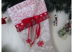 Nikolausstiefel Weihnachtsstiefel in creme