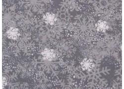 Patchworkstoff Eiskristalle grau Winter Gnomes Debbie Mumm