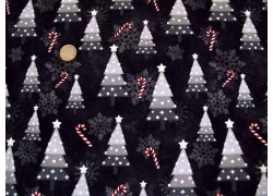 Patchworkstoff Christbaum schwarz Snowy Wishes