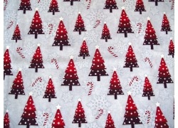 Patchworkstoff Christbaum grau rot Snowy Wishes