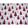 Patchworkstoff Christbaum grau rot Snowy Wishes