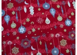 Baumwollstoff Weihnachten rot Rudolf