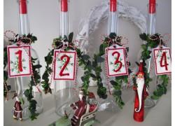 Adventskranz Zahlen 1 - 4 sehr dekorativ