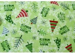 Patchworkstoff Weihnachten grün Winter Gnomes Debbie Mumm