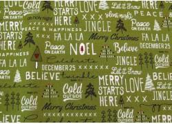 Patchworkstoff Weihnachten grün Merry Starts Here