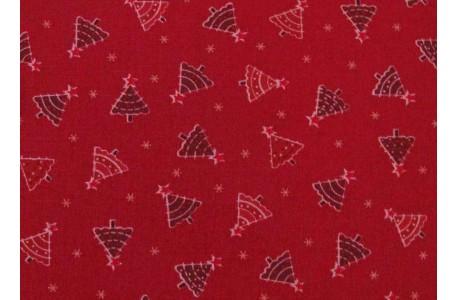 Patchworkstoff Weihnachten rot Christmas Elves