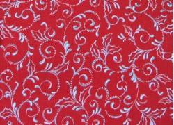 Patchworkstoff Weihnachten rot Pretty Poinsettias