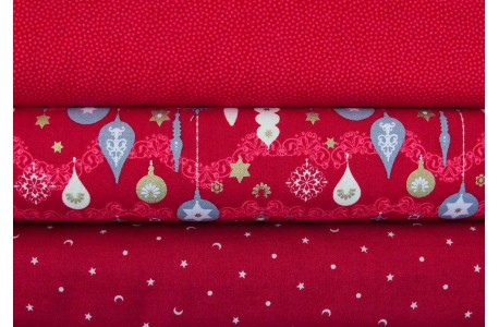 Stoffpaket Weihnachten rot