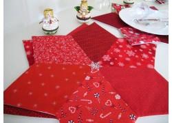 Tischset rot Stern Weihnachten