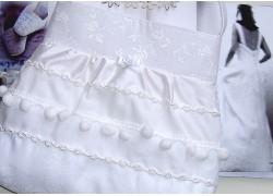 Brauttasche weiß