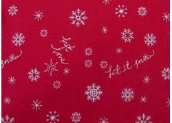 Patchworkstoff Weihnachten rot Winter Tales
