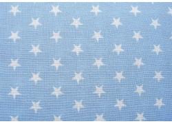 Sternstoff blau weiß