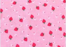 Patchworkstoff Erdbeeren rosa rot Flutter and Shine