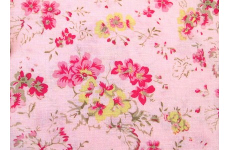 Patchworkstoff Geranien rosa Durham Anew Collection