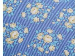 Tilda Stoff Happy Campers Rosenstoff blau gelb