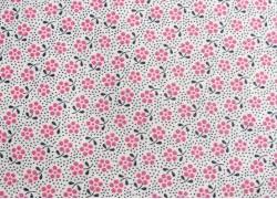 Tilda Stoff Happy Campers Meadow Blümchen rosa