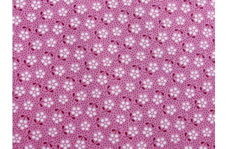 Tilda Stoff Happy Campers Meadow Blümchen pink