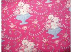 Tilda Stoff Happy Campers Rosenstoff pink