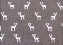 Patchworkstoff Rehe taupe weiß Golden Days