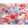 Blumenstoff rosa türkis Patchworkstoff Echanted Forest