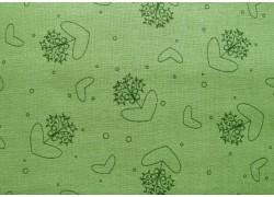 Fat Quarter grün Blumenornamente Herzchen Kreise