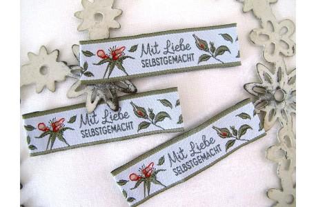 Web-Etiketten Aufnäher Wildrosen von Viktoria Egert