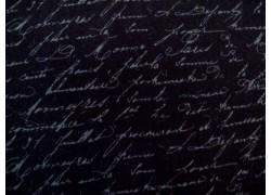 Patchworkstoff Designerstoff Schrift schwarz Festive Forest