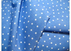Pünktchenstoff blau weiß Daniela Drescher acufactum