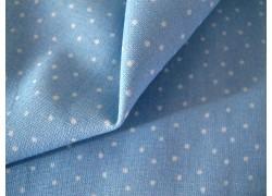 Pünktchenstoff hellblau weiß acufactum