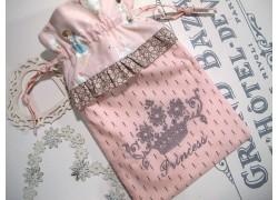 Wärmflaschenbezug rosa taupe Krone Baby