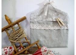 Wäscheklammerbeutel Leinen natur
