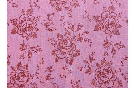 Rosenstoff rosa Designerstoff Dream Cottage von Verna Mosquera