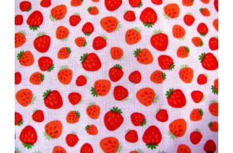 Kinderstoffe Baumwolle Stoff Erdbeeren Echanted Forest