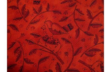 Quiltstoff Vögel rot Round Robin Moda Patchworkstoff