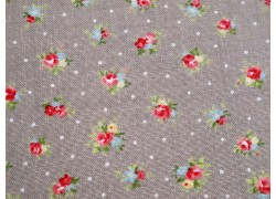 Patchworkstoff Blümchen taupe Quiltstoff Brenda Riddle Amberley