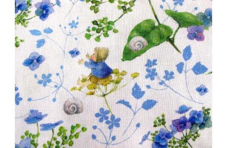 Daniela Drescher Stoff Babys Hortensientraum blau