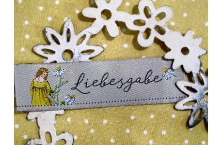 Web-Etiketten Aufnäher Liebesgabe Daniela Drescher
