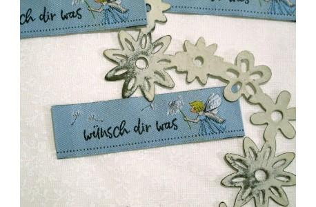 Web-Etiketten Aufnäher wünsch dir was Daniela Drescher