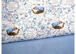 Stoffpaket Daniela Drescher Stoffe Elfen blau weiß 72034